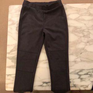 Girls leggings, faux suede, gray, L size 10-12